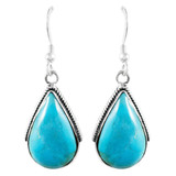 Turquoise Earrings Jewelry Sterling Silver E1298-C75