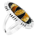 Tiger Eye Ring Sterling Silver R2096-SM-C33