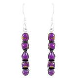 Purple Turquoise Earrings Sterling Silver E1243-C77