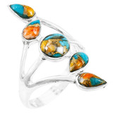 Spiny Turquoise Ring Sterling Silver R2406-C89