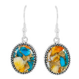 Spiny Turquoise Earrings Sterling Silver E1302-C89