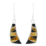 Tiger Eye Earrings Sterling Silver E1154-C33