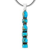 Matrix Turquoise Pendant Sterling Silver P3140-C84 Turquoise Jewelry