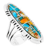 Spiny Turquoise Ring Sterling Silver R2096-LG-C89