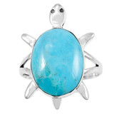 Turquoise Turtle Ring Sterling Silver R2235-C75