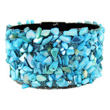 Faux Wrap Bracelet Aqua Blue YB8002-C2