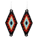 Faux Beaded Earrings Black YE7001-C2