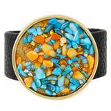 Faux Leather Bracelet Blue & Orange YB8004-C1