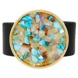 Faux Leather Bracelet Multicolor YB8004-C3