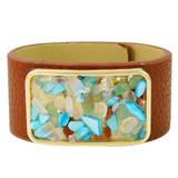 Faux Leather Bracelet Multicolor YB8005-C3
