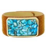 Faux Fur Bracelet Aqua YB8006-C2
