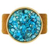 Faux Fur Bracelet Aqua YB8007-C2