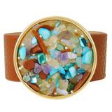 Faux Leather Bracelet Multicolor YB8008-C3