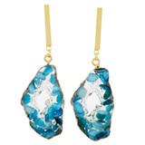 Faux Floating Stones Drop Earrings Blue YE7005-C4