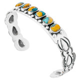 Spiny Turquoise Bracelet Sterling Silver B5574-C89