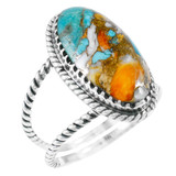 Spiny Turquoise Ring Sterling Silver R2449-C89