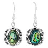 Sterling Silver Earrings Abalone Shell E1311-C10