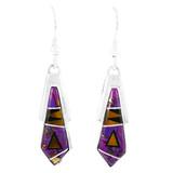 Purple Turquoise Earrings Sterling Silver E1076-C18