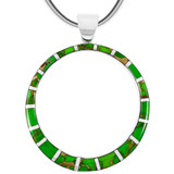 Sterling Silver Pendant Green Turquoise P3124-C06