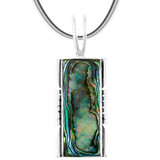 Sterling Silver Pendant Abalone P3044-LG-C10