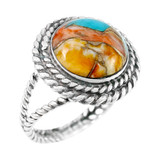 Spiny Turquoise Ring Sterling Silver R2290-C89