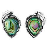 Sterling Silver Earrings Abalone Shell E1312-C10