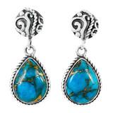 Matrix Turquoise Earrings Sterling Silver E1317-C84
