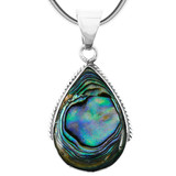 Abalone Jewelry Pendant Sterling Silver P3075-BAIL-C10
