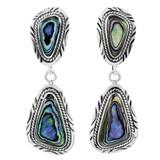 Sterling Silver Earrings Abalone Shell E1322-C10