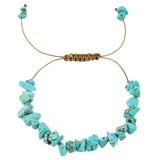 Blue Magnesite Nugget Bracelet YB8012-C2