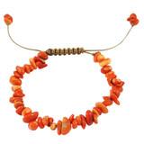 Orange Coral Nugget Bracelet YB8012-C5