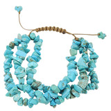 Blue Magnesite Nugget Bracelet YB8014-C2