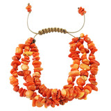 Orange Coral Nugget Bracelet YB8014-C5