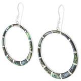 Abalone Shell Earrings Sterling Silver E1187-C10