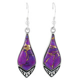Purple Turquoise Earrings Sterling Silver E1231-C77