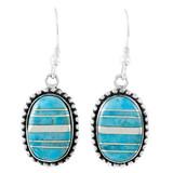 Sterling Silver Drop Earrings Turquoise E1323-C05
