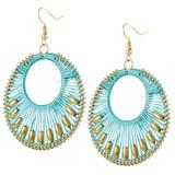 Faux Beaded Drop Earrings Sky Blue YE7006-C3