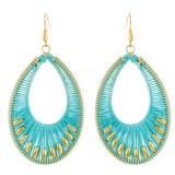 Faux Beaded Drop Earrings Sky Blue YE7007-C3