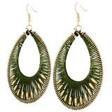 Faux Beaded Drop Earrings Green YE7007-C5