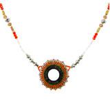 Modern Vintage Beaded Necklace Oranges YN9003-C4