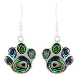 Abalone Paw Earrings Sterling Silver E1240-C10
