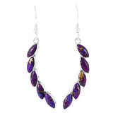 Purple Turquoise Earrings Sterling Silver E1324-C77