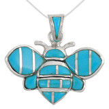 Sterling Silver Bee Pendant Turquoise P3156-C05-MED