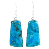 Sterling Silver Drop Earrings Turquoise E1332-C75