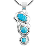 Turquoise Pendant Jewelry Sterling Silver P3281-C75