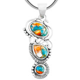 Spiny Turquoise Pendant Sterling Silver P3281-C89