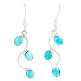 Sterling Silver Drop Earrings Turquoise E1335-C75