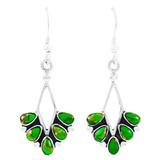 Green Turquoise Earrings Sterling Silver E1276-C76