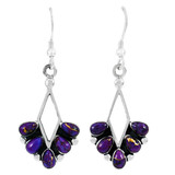 Purple Turquoise Earrings Sterling Silver E1276-C77