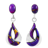 Purple Turquoise Earrings Sterling Silver E1338-C77